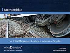 5 Critical Management Derailers: Symptoms & Remedies